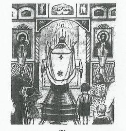 priester aan altaar
