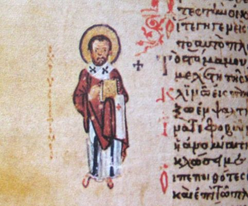 Chrysostomos johannes marginem of chludov Psalter