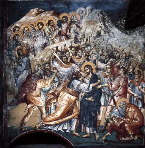 Judas verraad Ochrid 1259 fresco.jpg
