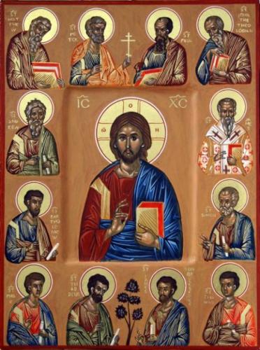 Christus +twaalf apostelen.jpg