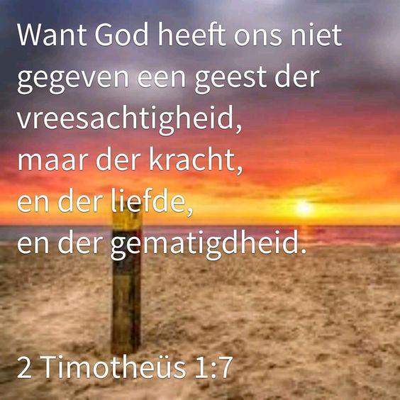 bijbeltekst 2 timotheus 1,7