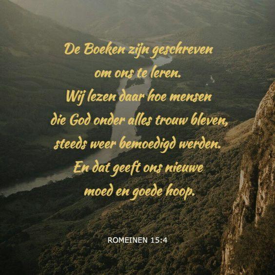 bijbeltekst romeinen 15, 4