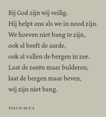 tekst bijbel Psalm 46,2-4