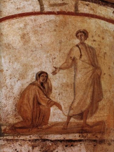 genezing van een vrouw op sabbath