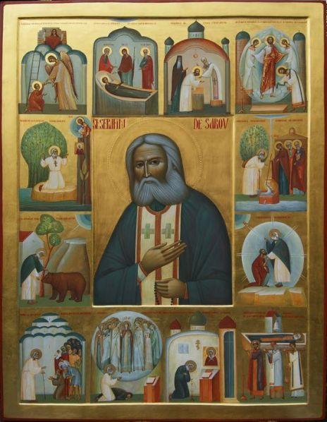 Seraphim van Sarov met vita2.jpg