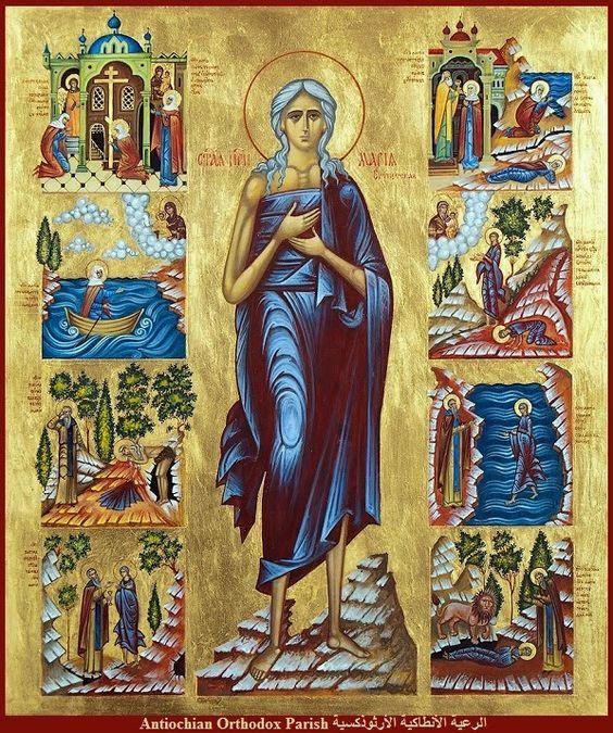 Maria van Egypte met vita