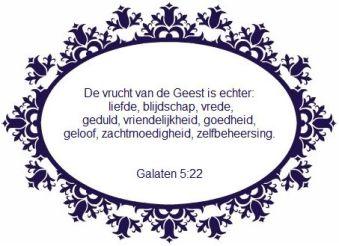 bijbeltekst de vrucht van de geest is liefde Galaten