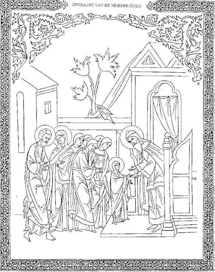 Intrede in de tempel van Maria