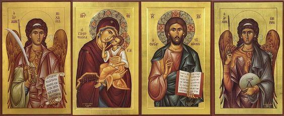 Jezus Maria en engelen